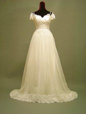 Free shipping capsleeve lace wedding dress 2011 ER2