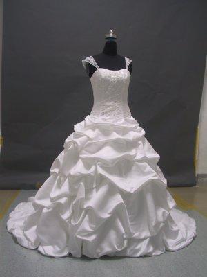 Free shipping capsleeve designer wedding dress ER46