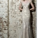 Free shipping fashion lace off shoulder wedding dress 2011 EC160