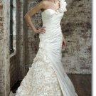 Free shipping fashion taffeta one shoulder wedding dress 2011 EC161