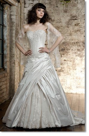 Free shipping fashion taffeta swarovski wedding dress 2011 EC162
