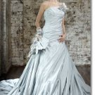 Free shipping fashion flower sweet wedding gown 2011 EC166