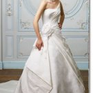 latest style taffeta handmade flower  wedding gown 2011 EC178