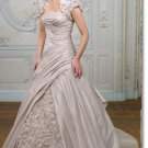 latest style taffeta handmade flower  wedding dress 2011 EC177