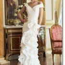 Free shipping designer off shoulder wedding dress 2011 EC197
