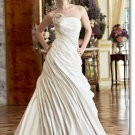 Free shipping designer ruffle taffeta wedding dress 2011 EC200