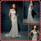 Free shipping strapless lace wedding dresses 2011 EC207
