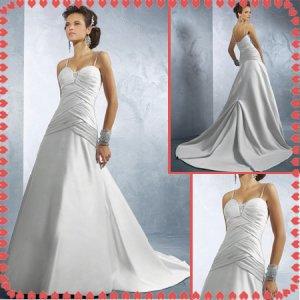 Free shipping riffle spaghetti wedding dresses 2011 EC225