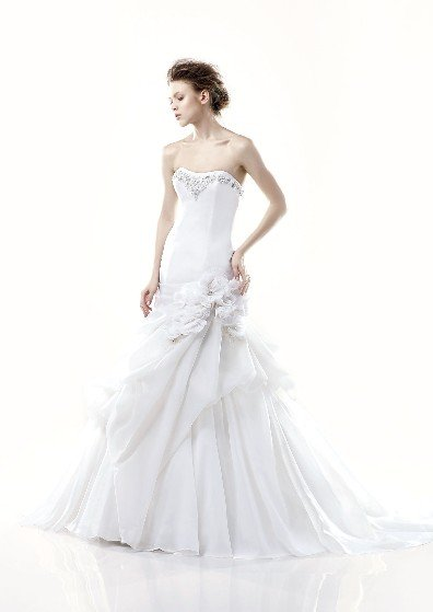 fashion latest style swarovski wedding dress EC283