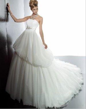 fashion latest swarovski ball gown wedding dress EC292