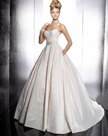 fashion latest swarovski ball gown wedding dress EC295