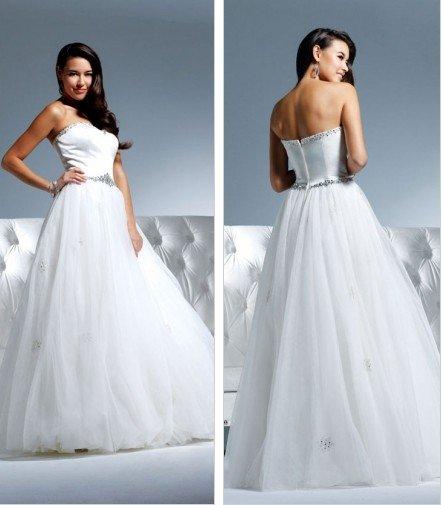 Free shipping new model swaovski and rhinestone wedding gown EC315