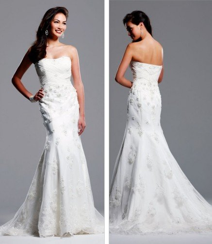 Free shipping new model lace wedding gown EC316