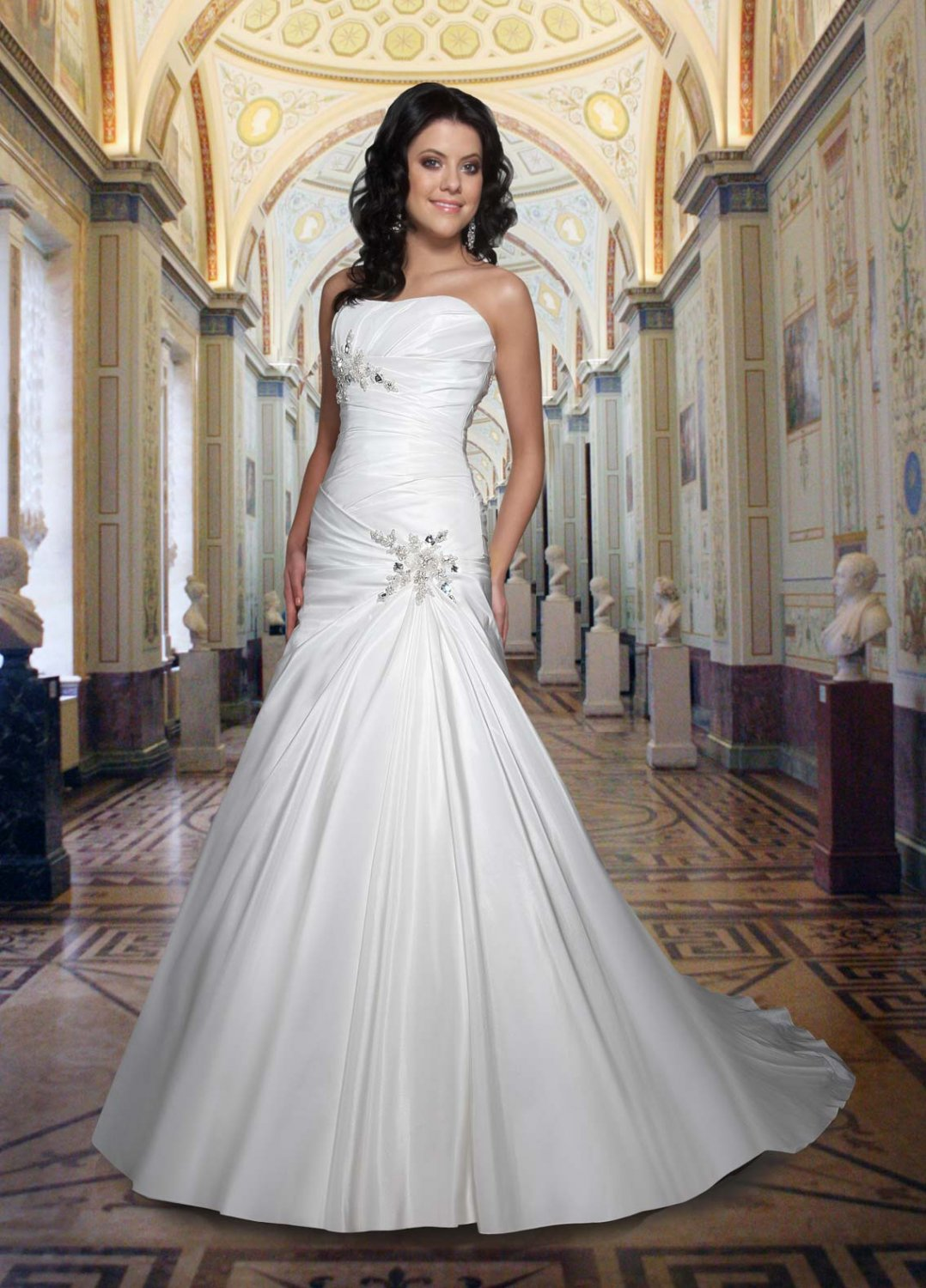 Free shipping new model rhinestone wedding dress EC324