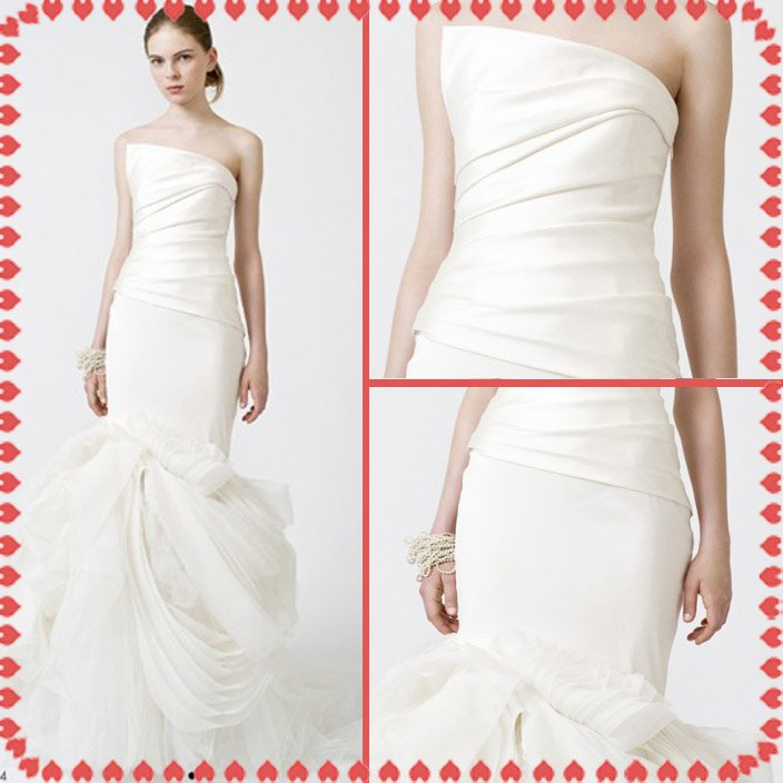 fashion latest style vera wang wedding dress 2011 EC354