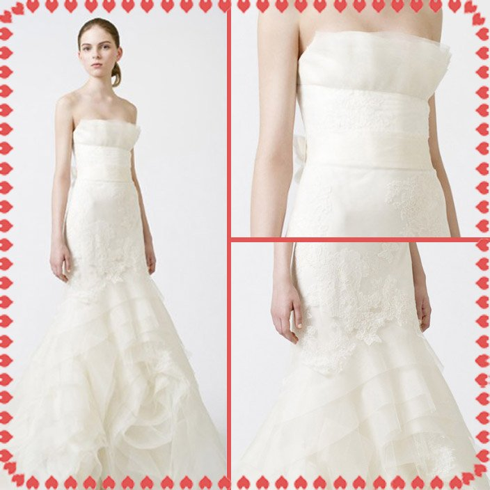 fashion latest style vera wang wedding dress 2011 EC356