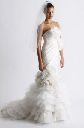 Free shipping fashion  vera wang wedding dress 2011 EC358