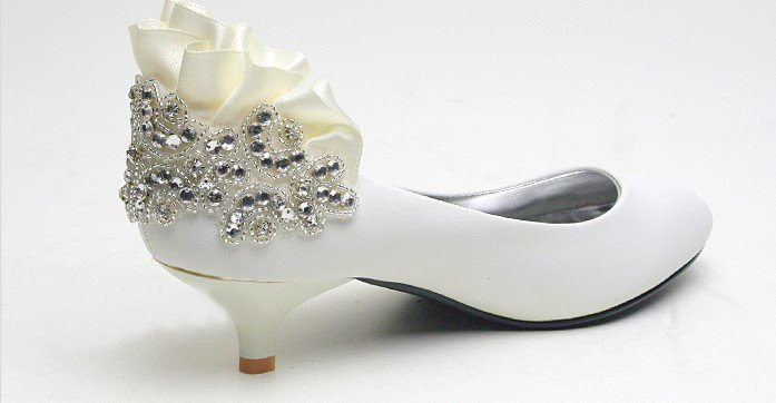 swarovski crystals and rhinestone shiny wedding shoes S001