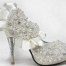 swarovski crystals and rhinestone shiny wedding shoes S002