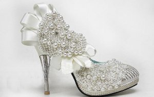 swarovski crystals and rhinestone shiny wedding shoes S002