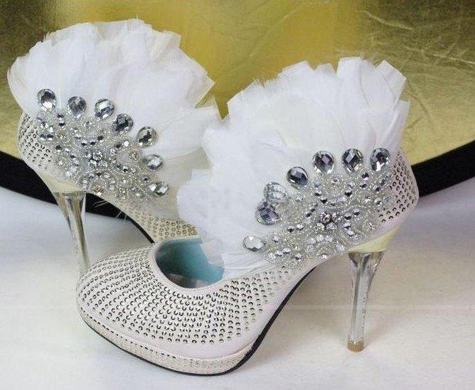 swarovski crystals and rhinestone shiny wedding shoes S003