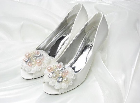 swarovski crystals and rhinestone shiny wedding shoes S008