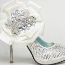 swarovski crystals and rhinestone shiny wedding shoes S009