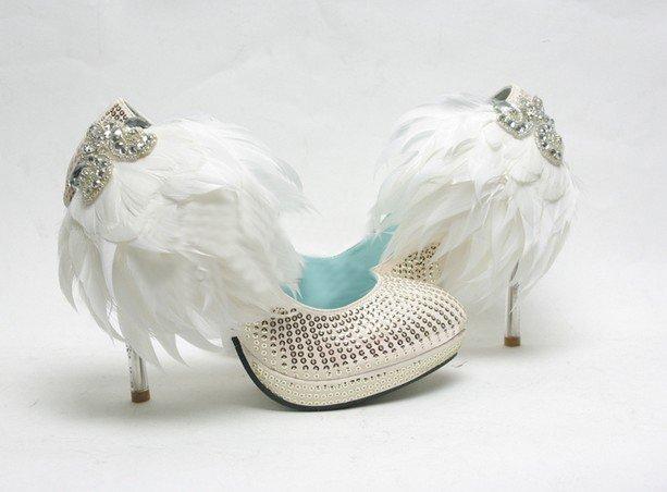 swarovski crystals and rhinestone shiny wedding shoes S011