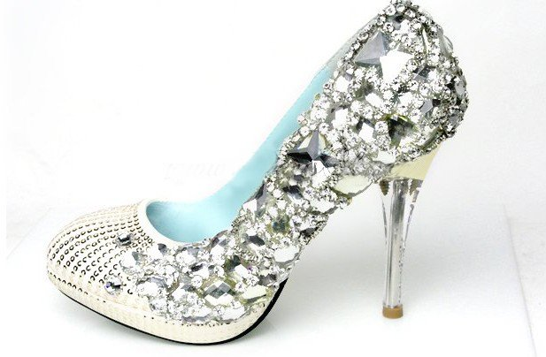 swarovski crystals and rhinestone shiny wedding shoes S017
