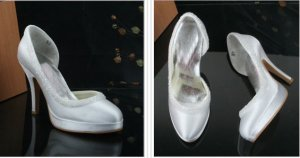 swarovski crystals and leather wedding shoes S022