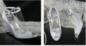 swarovski crystals and leather wedding shoes S023