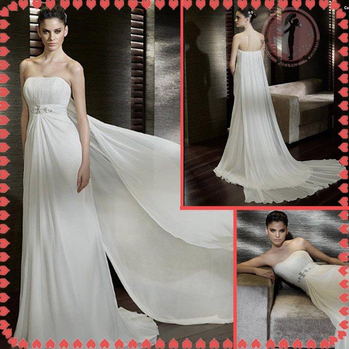 Free shipping beach wedding dress 2012 EC375
