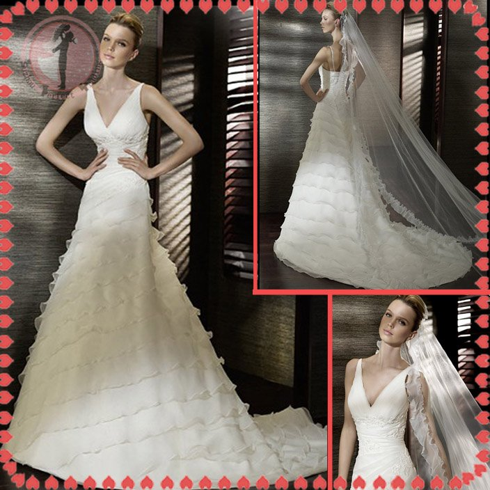 Free shipping the most popular off shoulder wedding dress 2012 EC386