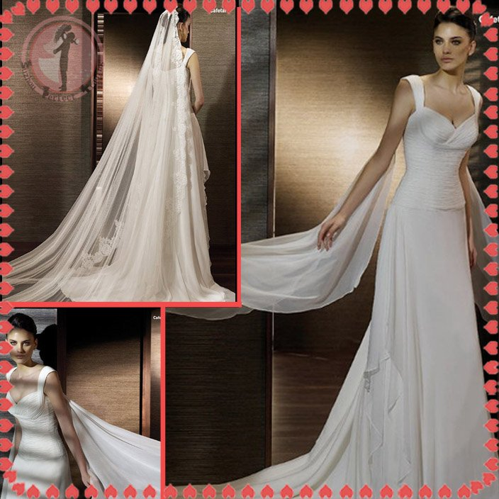 Free shipping the most popular beach 2012 wedding dress EC387