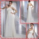 Free shipping the most popular beach one shoulder 2012 wedding dress EC389