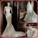 2012 bridal silver satin lace wedding dress EC399