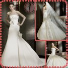 2012 new style silver satin wedding dress EC406