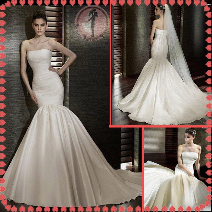 2012 new model bridal wedding dress EC412