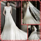 2012 new model bridal lace wedding dress EC415