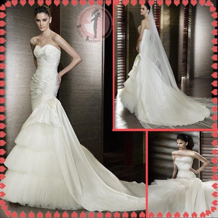 2012 new model bridal wedding dress EC416