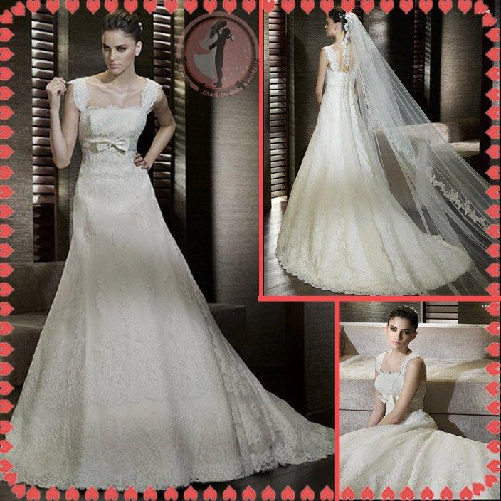 2012 new model bridal lace wedding dress EC417
