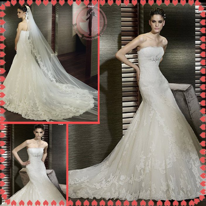 2012 new model bridal sexy wedding dress EC426