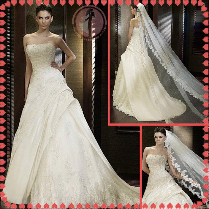 2012 new model bridal swarovski wedding dress EC429