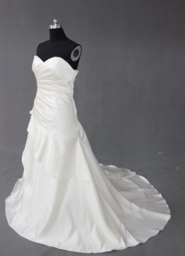 EC474 new fashion stylish strapless desiger wedding dress 2013