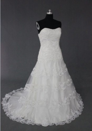 EC476 new fashion stylish strapless desiger wedding dress 2013