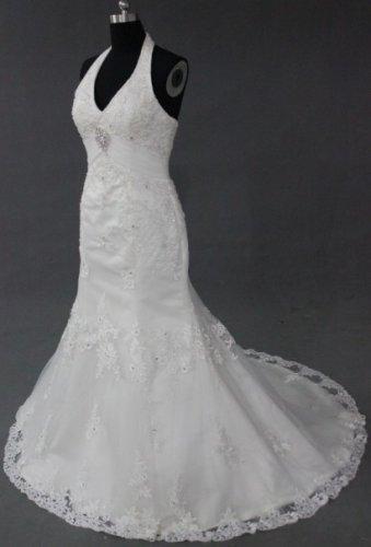 EC478 new fashion stylish halter desiger wedding dress 2013