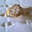 Clear Oval Size Rhinestone Ring!