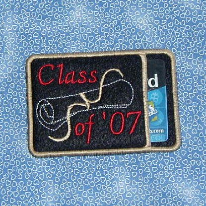 Class of  Embroidered Gift or Business Card Holder