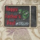Fathers Day Gift or Business Card Embroidered Holder