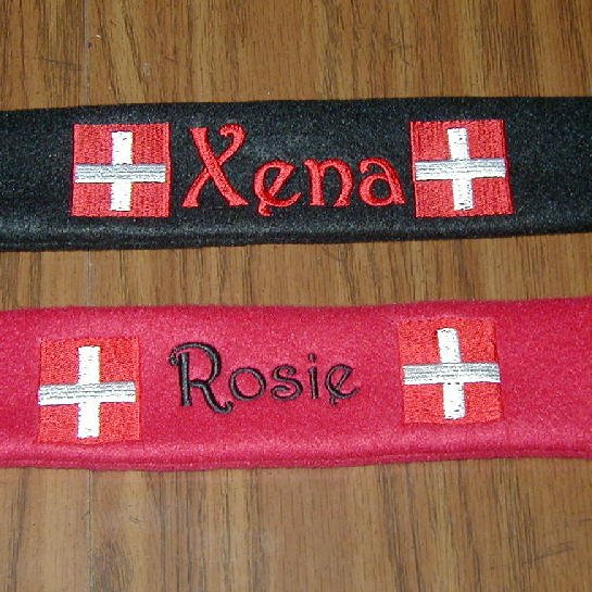 Custom Personalized Embroidered Dog Collar Sleeves